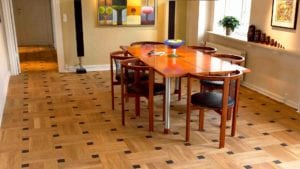 LIVING ROOM SOLID PATTERN BLOCKS OAK WENGE